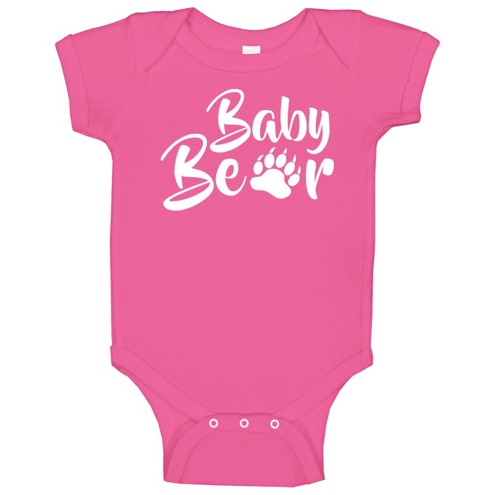 Baby Bear Onesie, Baby Bear One Piece, Baby Bear Bodysuit, Baby Bear, Mama Bear, White, Baby Bear Gifts, Momma Bear Baby One Piece