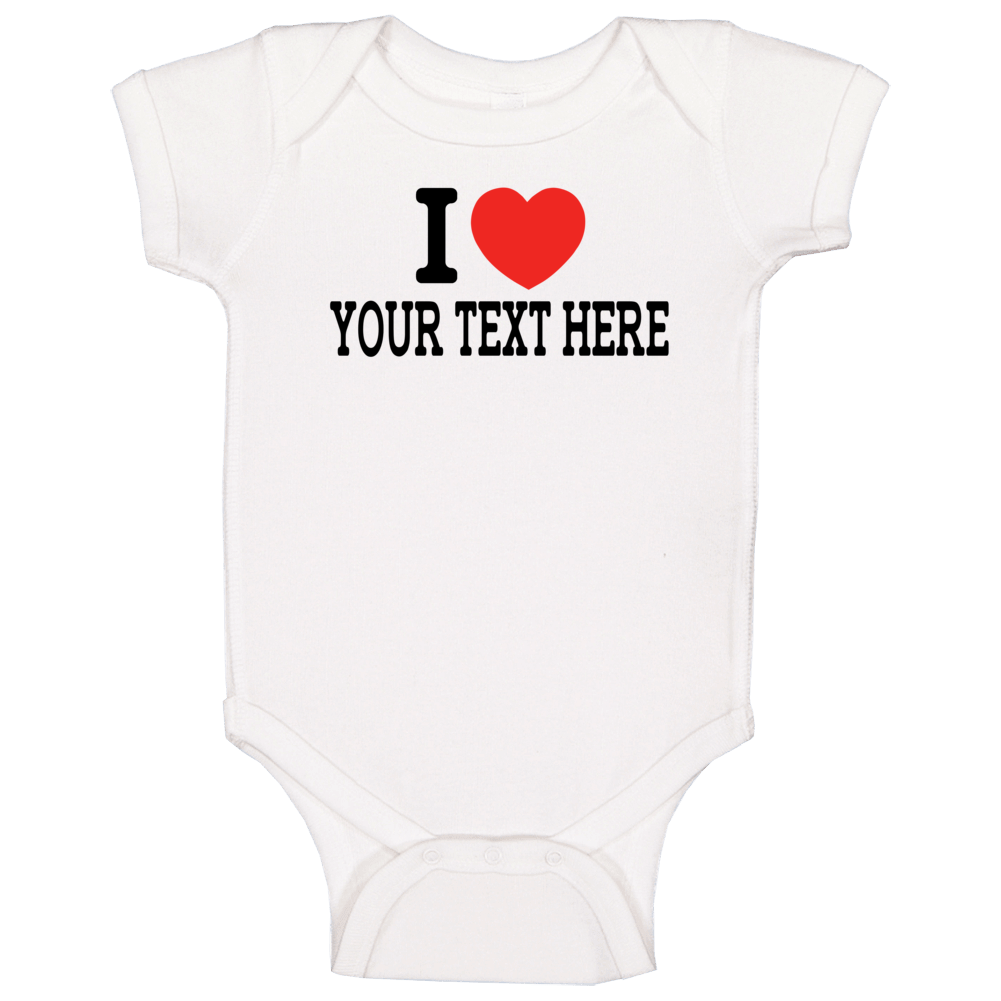 I Heart Funny White Bodysuit, Dad Funny Baby Bodysuit, Funny Baby Clothes, Unisex Bodysuit Baby One Piece