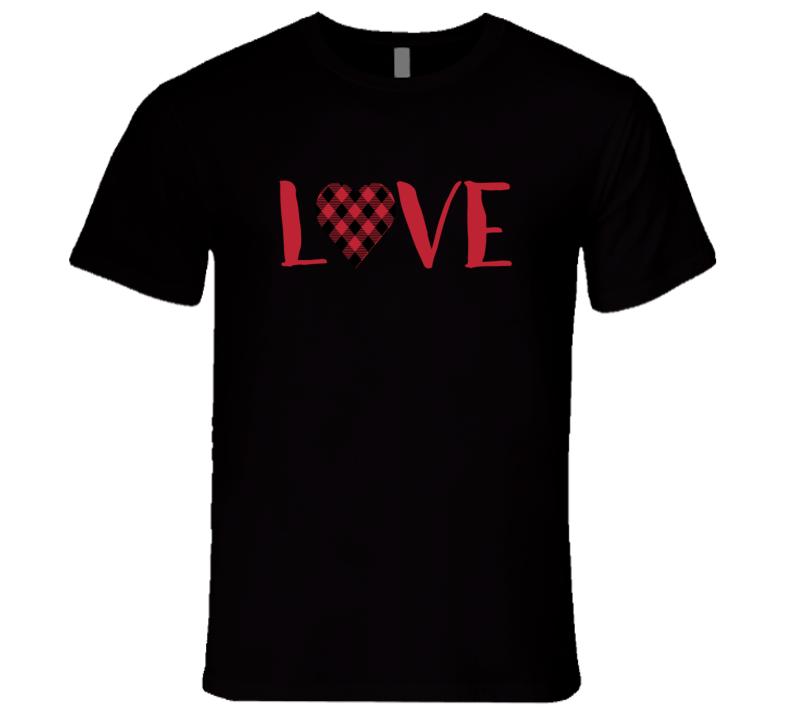 Red Plaid Heart, Red Plaid Heart Shirt, Red Plaid Shirt, Red Heart Tee T Shirt