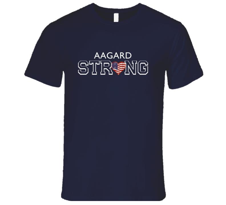 Aagard Last Name Strong American T Shirt