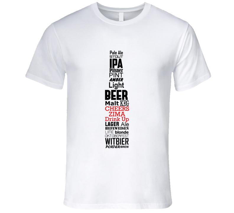 Zima Cheers Drink Up Beer Bottle T Shirt