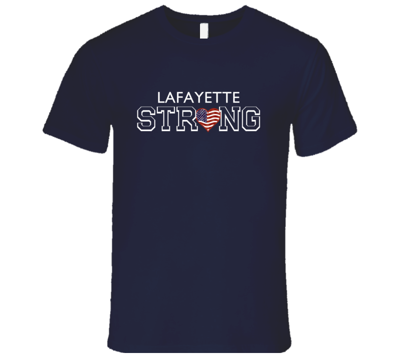 Lafayette Last Name Strong American T Shirt