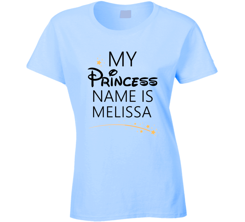 My Princess Name Is Melissa Cartoon Princess Inspired T Shirt