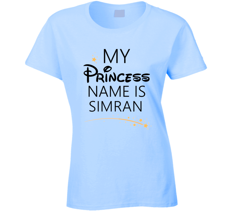 My Princess Name Is Simran Cartoon Princess Inspired T Shirt