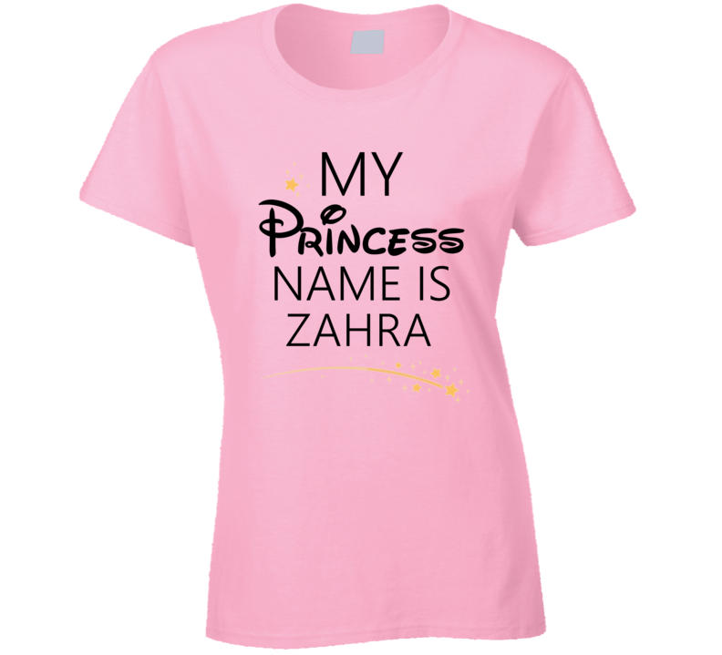 My Princess Name Is Zahra Cartoon Princess Inspired T Shirt