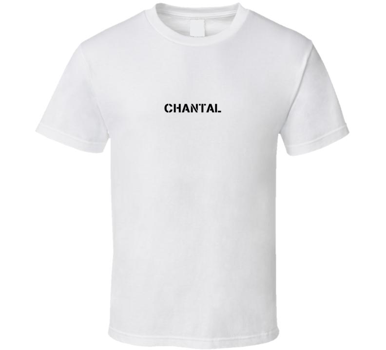 Chantal American Sniper Inspired Army Name T Shirt