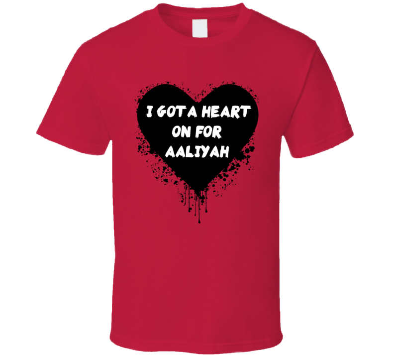 Heart On For Aaliyah Simple Plan Inspired Valentines T Shirt