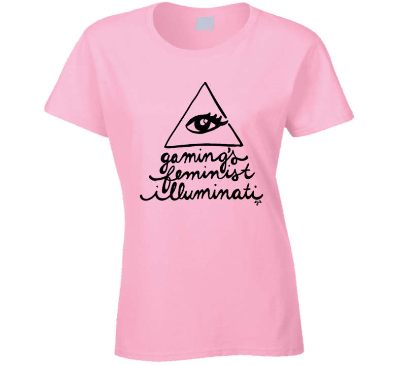 Gamings Feminist Illuminati Eye Triangle Logo Video Game Support T Shirt