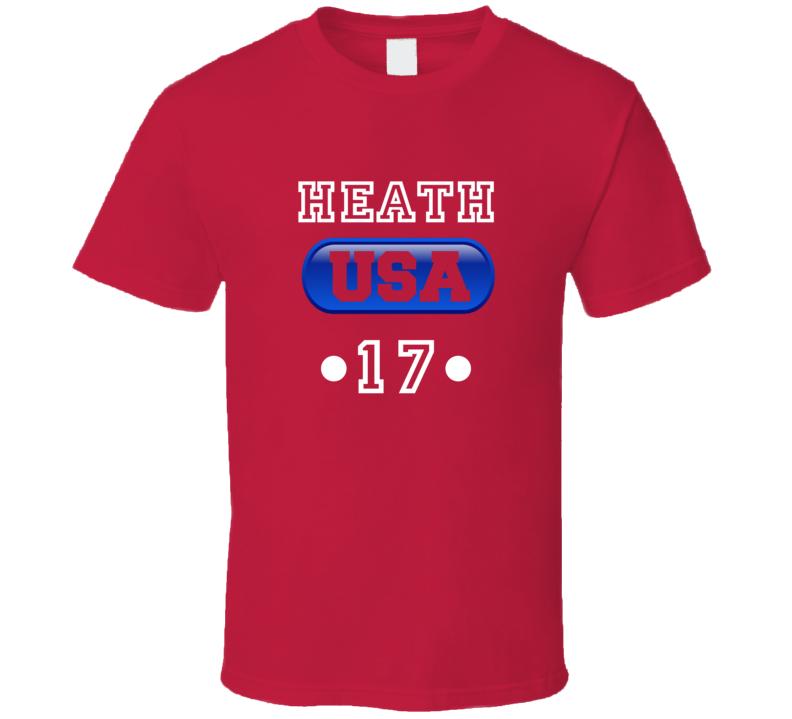 Tobin Heath Team Usa Womens World Cup Soccer Champions Jersey 17 T Shirt