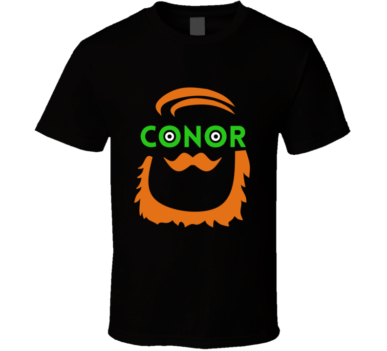 Conor McGregor Irish Colors Facial Hair Mike Tyson Wrestling Fighter T Shirt