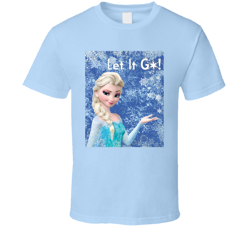 Elsa Frozen Let It Go Movie  T Shirt