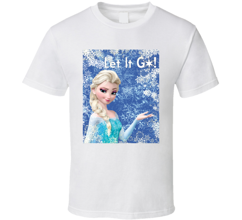 Elsa Let It Go Frozen White Graphic T Shirt