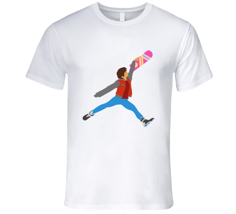 Marty Air McFly Pays Homage The Jumpman Back To The Future T Shirt