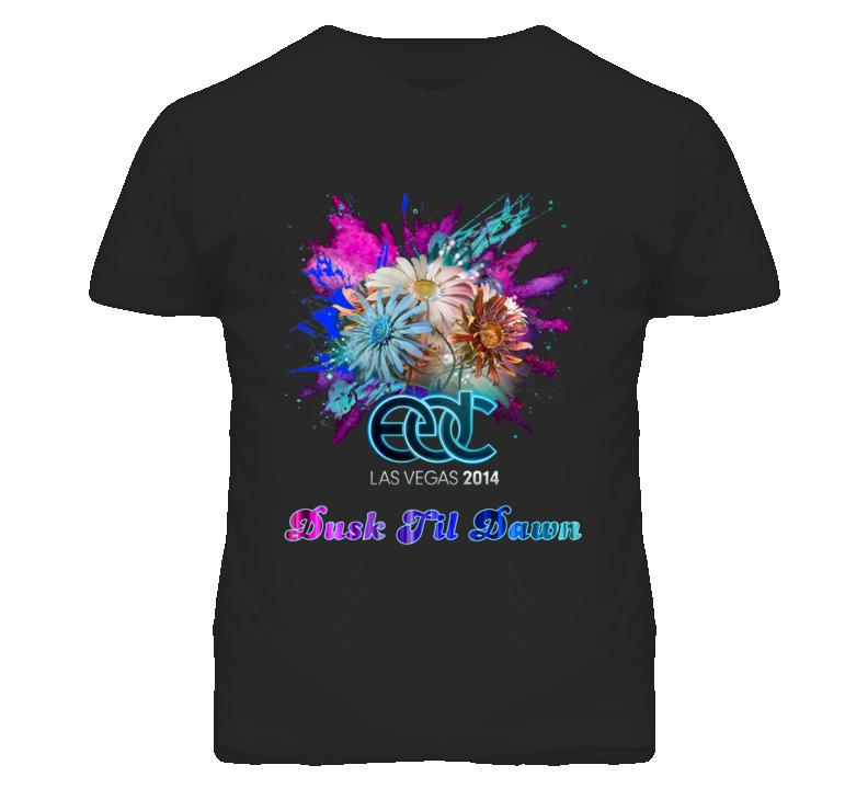 EDC Las Vagas Electric Daisy Festival Logo Dusk Til Dawn T Shirt