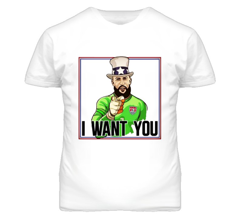 Tim Howard I Want You Poster USA Army Parody Soccer WC T Shirt