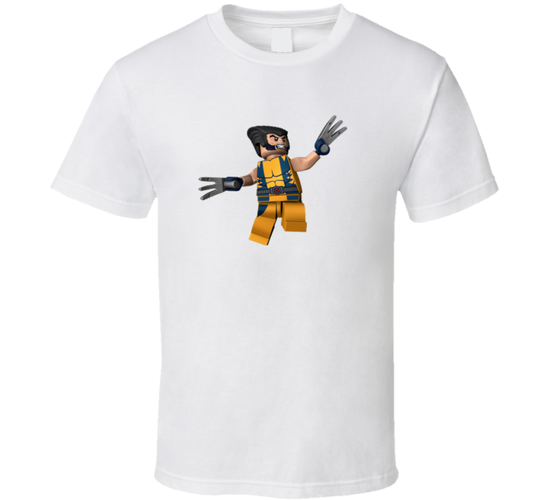 Wolverine Lego Marvel Character Kids Superhero T Shirt