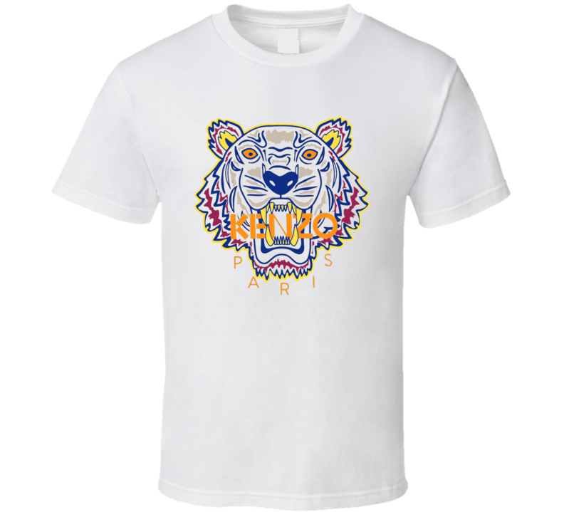 Kenzo Paris Tiger Animal Inspired T Shirt