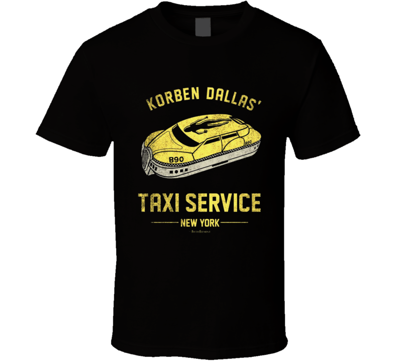 Korben Dallas' Taxi Service New York The Fifth Element Movie Bruce Willis T Shirt