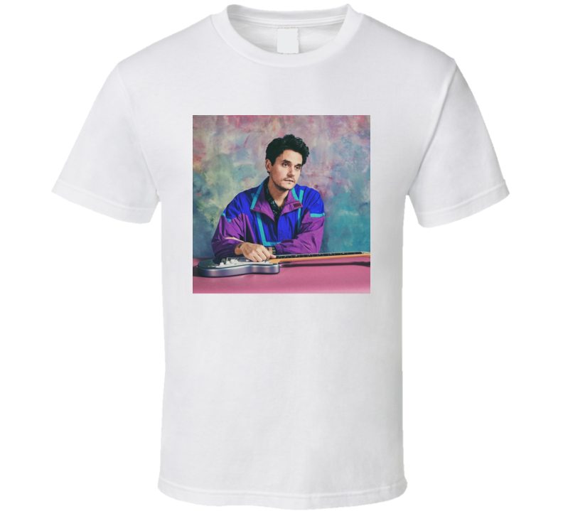 John Mayer New Light Single Album Singer Retro Look Artist Fan T Shirt