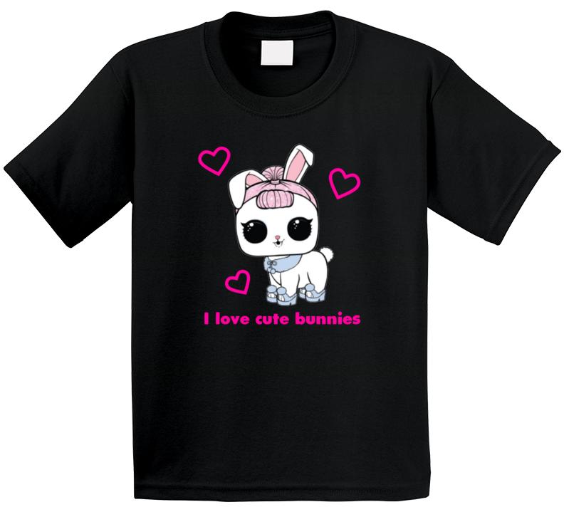 Gabby Crystal Bunny I Love Cute Bunnies Kids T Shirt