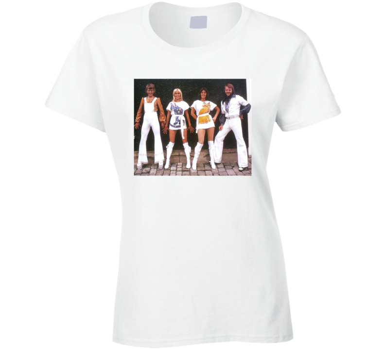 Abba Vintage Photo Picture Mamma Mia 2 Here We Go Again Animal White Dresses Musical T Shirt