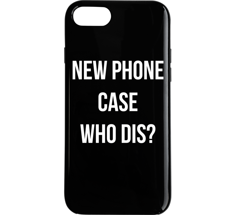New Phone Case Who Dis Funny Trendy Graphic Phone Case