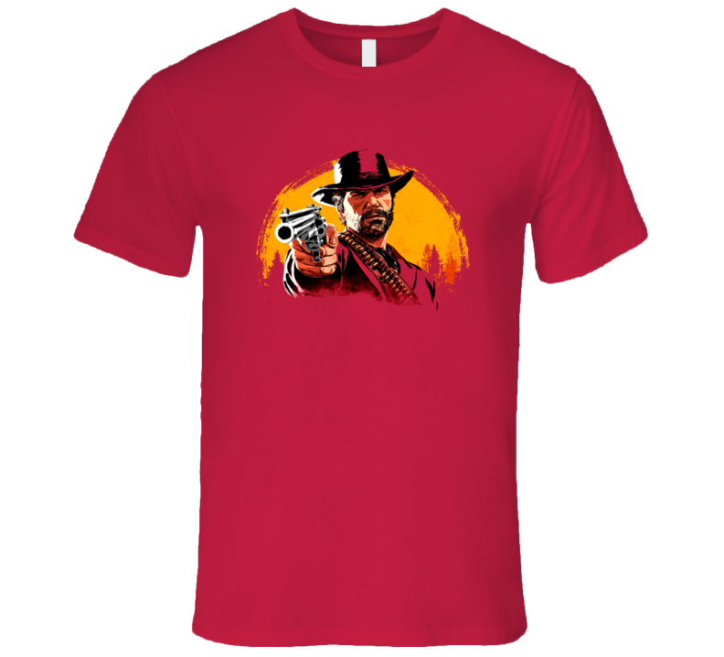 Red Dead Redemtion Ii 2 Outlaws For Life Video Game Cover Main Character Gamer Fan T Shirt