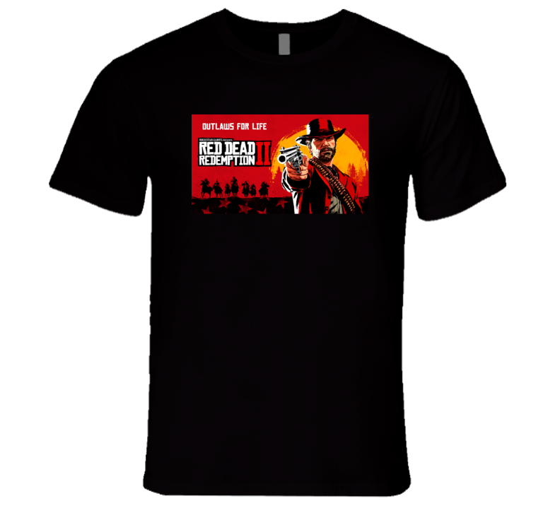 Red Dead Redemtion Ii 2 Outlaws For Life Video Game 2018 Gamer Fan T Shirt