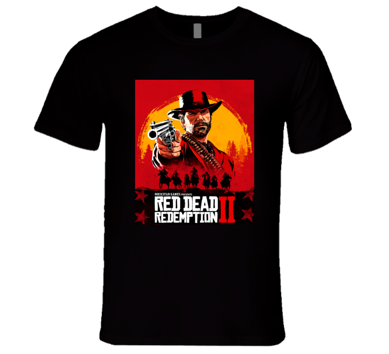 Red Dead Redemtion Ii 2 Outlaws For Life Video Game Cover 2018 Gamer Fan T Shirt
