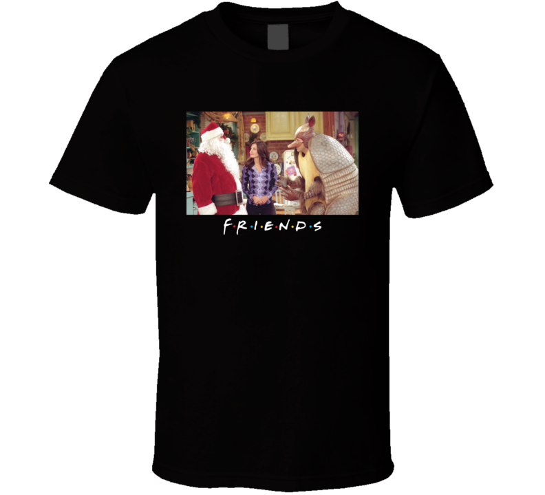Friends Tv Christmas Chandler Santa Ross Holiday Armadillo Hanukkah T Shirt