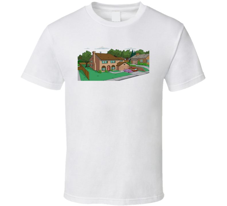 The Simpsons House 742 Evergreen Terrace Retro Look Cartoon Tv Show Funny T Shirt