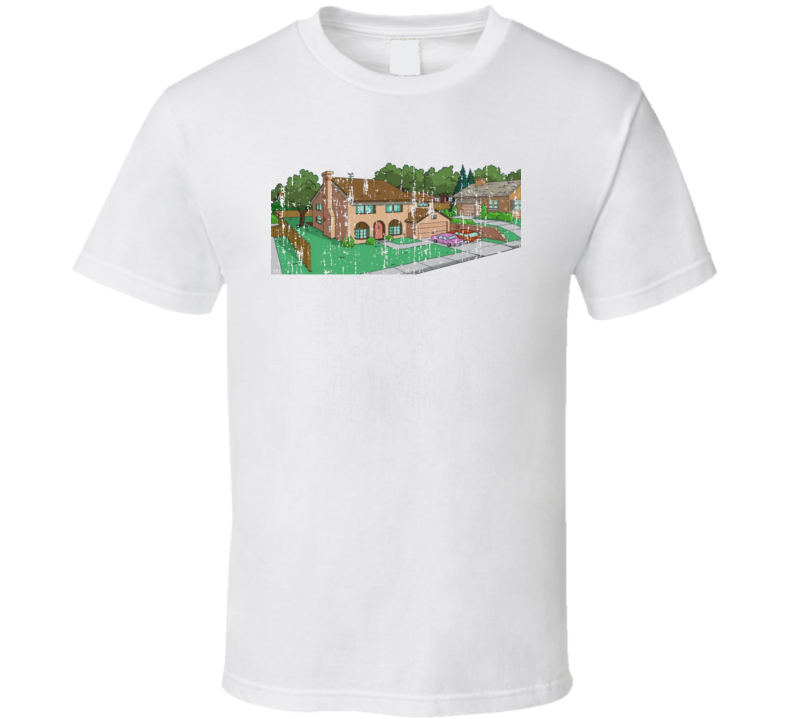 The Simpsons House 742 Evergreen Terrace Distressed Look Cartoon Tv Show Funny T Shirt