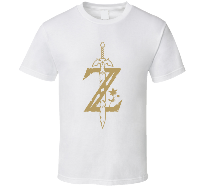 Zelda Breath Of The Wild Letter Z Nintendo Switch Video Game Gamer T Shirt