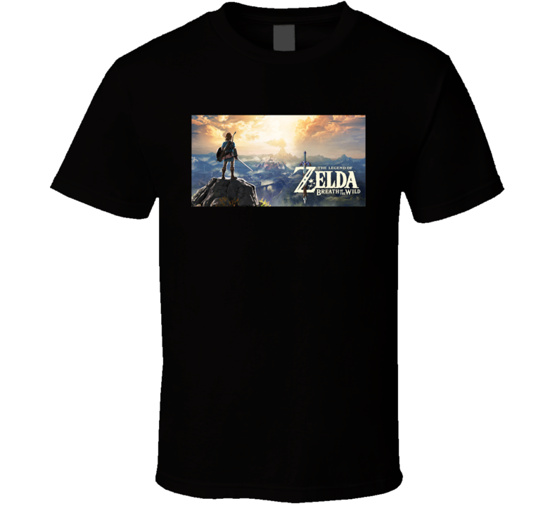 Legend Of Zelda Breath Of The Wild Nintendo Switch Video Game Gamer T Shirt