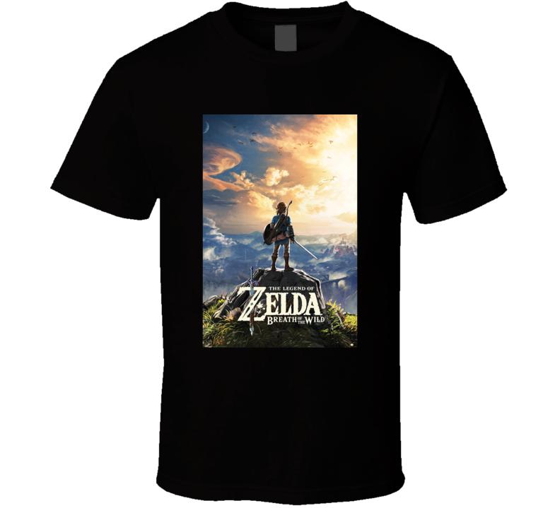 Legend Of Zelda Breath Of The Wild Nintendo Switch Video Game T Shirt