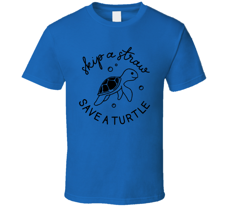 Skip A Straw Save A Turtle Vsco Girl Style Oversized T Shirt