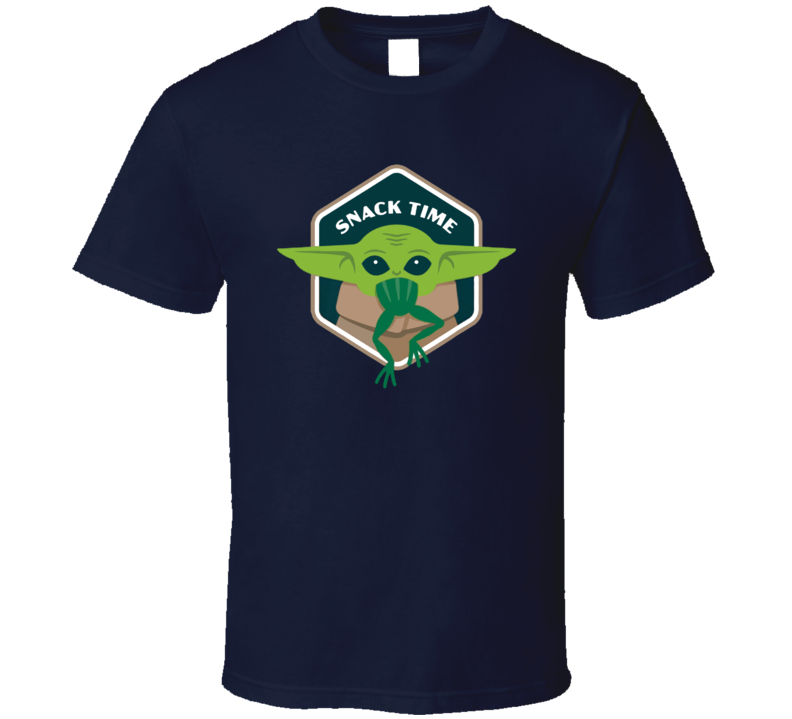 Baby Yoda Snack Time Eating Frog Space Mandalorian Star Wars Fan New 2019 Series Gift T Shirt
