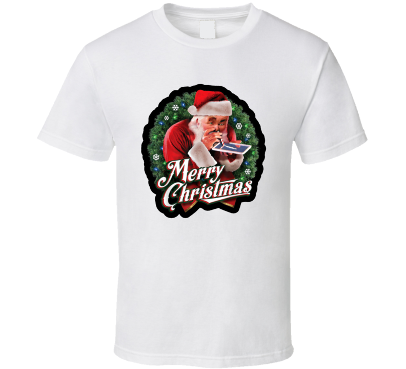 Old St. Nick Nicholas Santa Claus Snorting Lines Of Cocaine Crack Drugs T Shirt