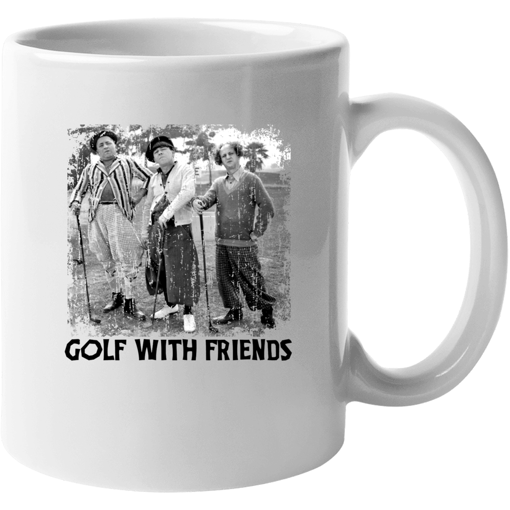 The Three Stooges Golf With Friends Distressed Mug