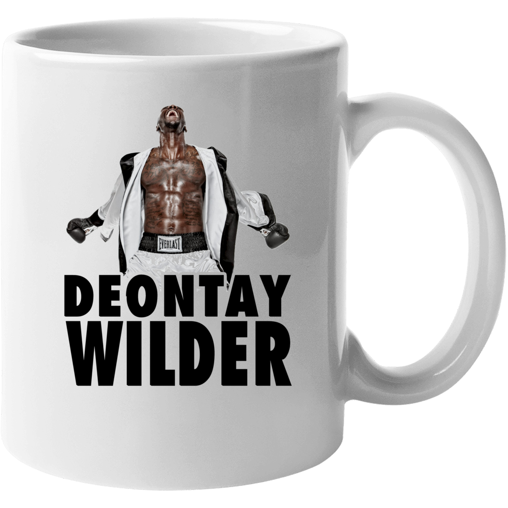 Deontay Wilder Boxing Stance Abs Heavyweight Boxer Champion Mug