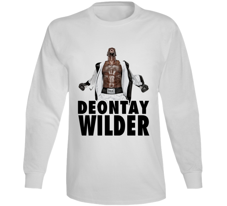 Deontay Wilder Boxing Stance Abs Heavyweight Boxer Champion Long Sleeve