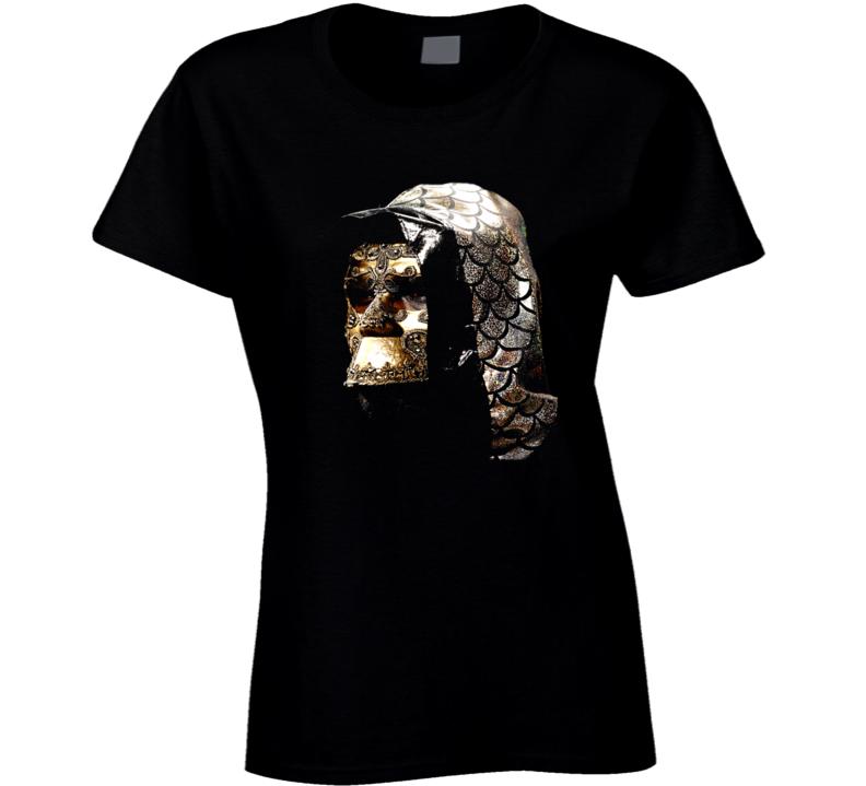 Deontay Wilder Mask Gold Hood Heavyweight Boxer Champion Ladies T Shirt