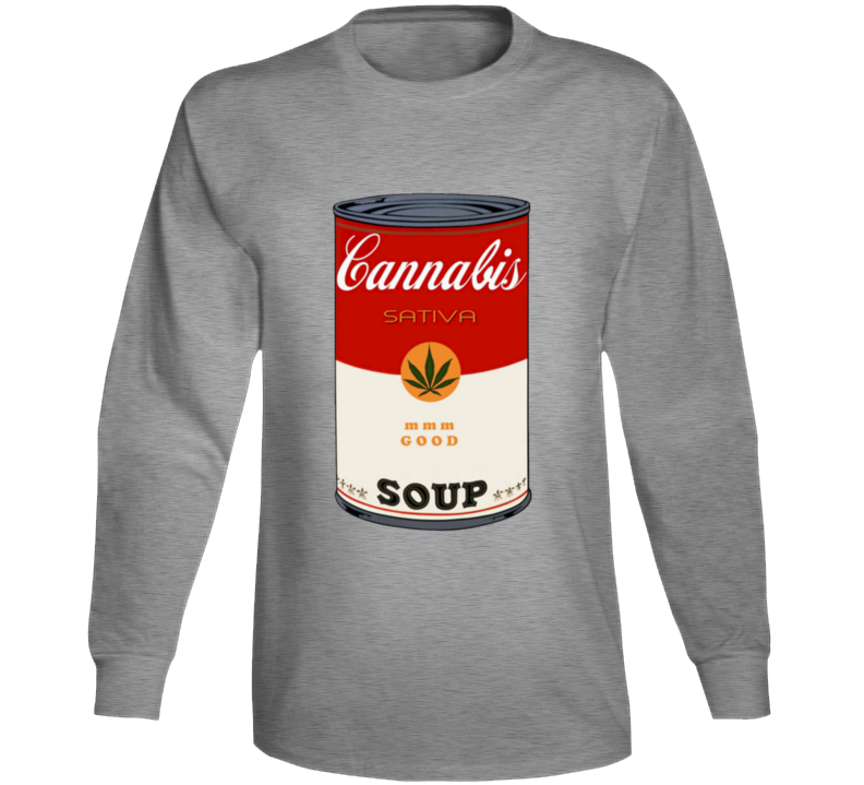 Campbell's Soup Sativa Weed That 70's Show Steven Hyde Eric Foreman Inspired Long Sleeve