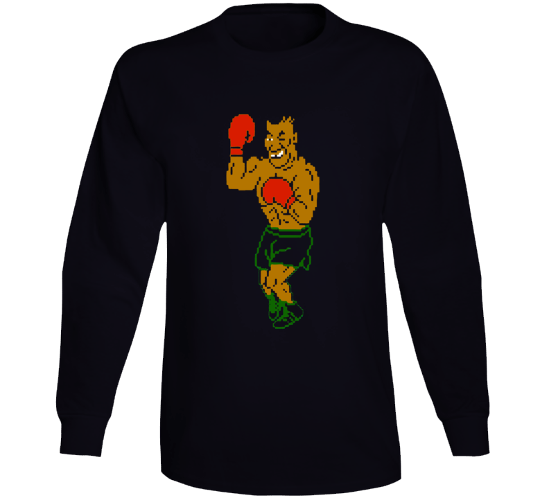 Mike Tyson Punch Out Boxing Video Game Boxer Champion Long Sleeve