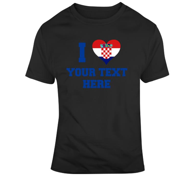 I Heart Love Croatia Flag Soccer T Shirt