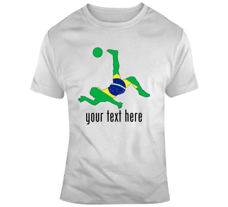 Got Milk Player Name Brazil Flag Soccer Football T Shirt