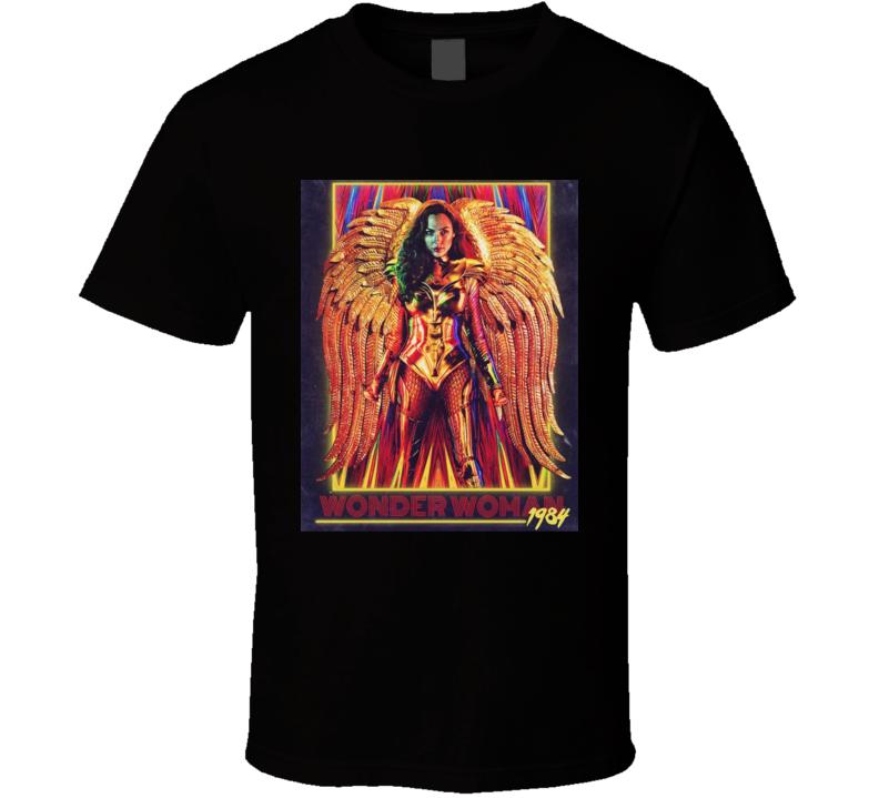Wonder Woman 1984 Ww84 Superhero Starring Gal Gadot Female Power Colourful Movie Poster 2020 Fan Retro Art Wings T Shirt