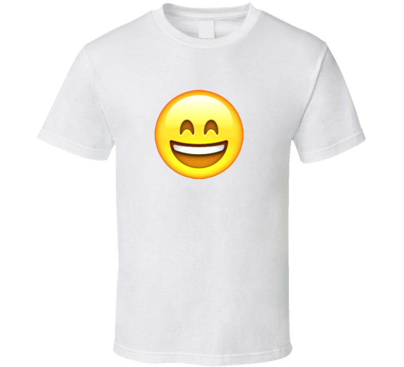 Smiling Face With Open Mouth Apple Iphone Texting Emoji Funny T Shirt
