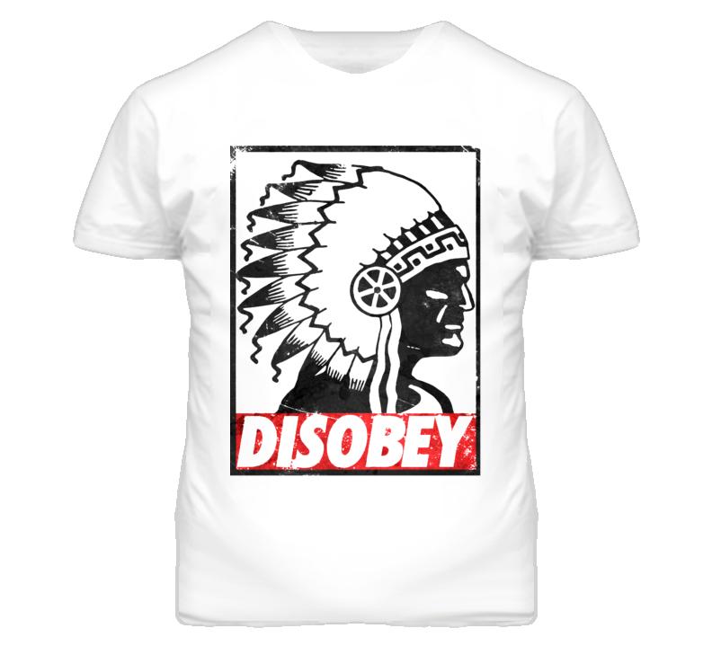 Native Aboriginal Chief Headdress Disobey Distressed T Shirt