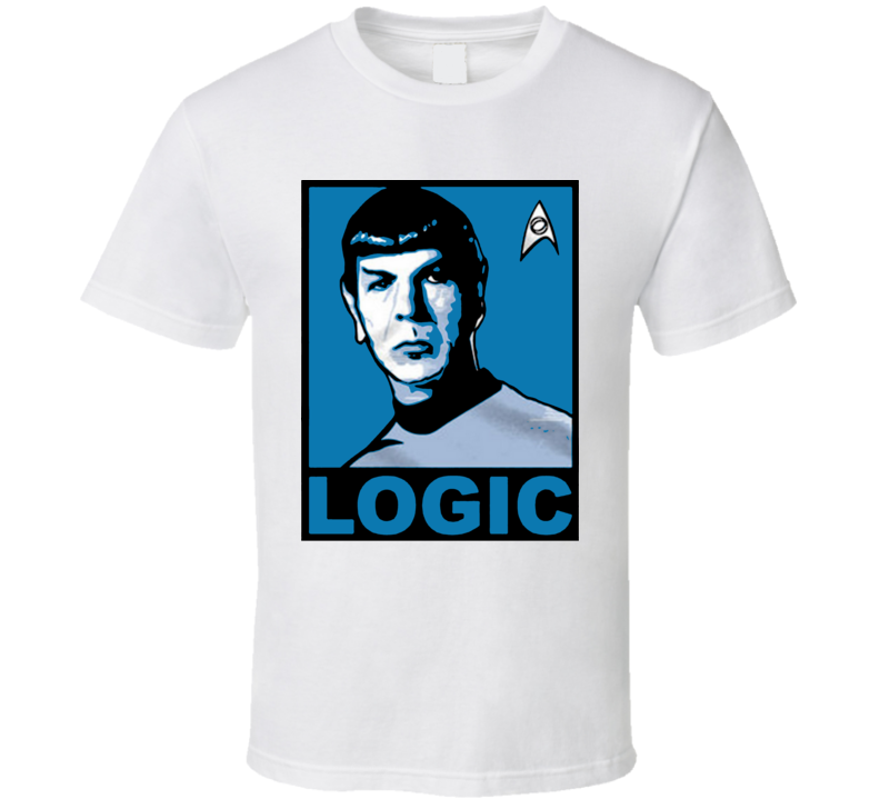 Spock Trek Logic Hope Poster Parody T Shirt